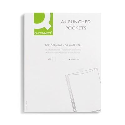 Punched Pockets - A4 - 50 Micron - Pack of 100