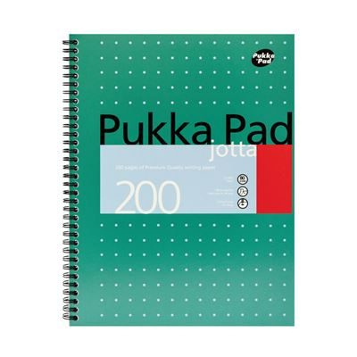 Pukka Pad Ruled Wirebound Metallic Jotta A4 Notebook - 200 Pages - Pack of 3
