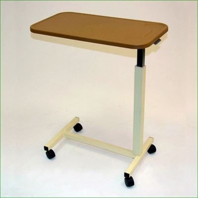 Adjustable Plastic Top Overbed Table
