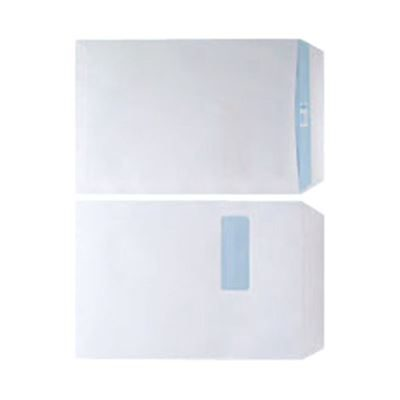 C4 White Envelopes With Window - Self Seal - 90gsm - Pack of 250