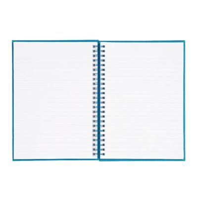 Wirebound A5 Notebook - Hard Cover Feint Ruled - 160 Pages