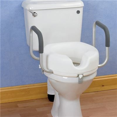 Raised Toilet Seat With Armrests