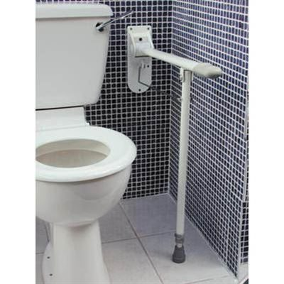 Drop Down Toilet Rail With Support Leg