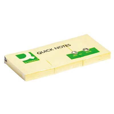 Q-Connect Quick Notes - Yellow - 38 x 51mm - Pack of 12