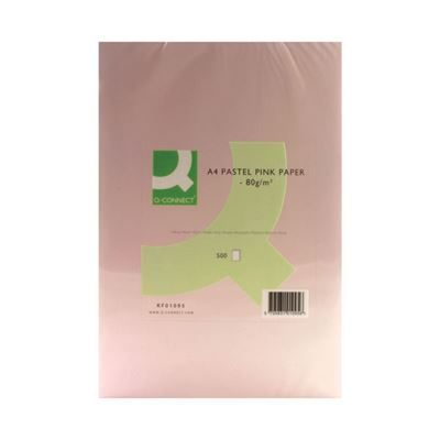 Q-Connect Pink A4 Copier Paper - 80gsm - Pack of 500