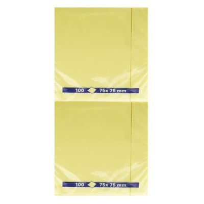 Sticky Notes - Yellow - 75x75mm - Pack of 12