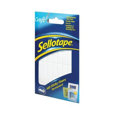 Sellotape Sticky Fixers Permanent - 12x25mm - Pack of 140