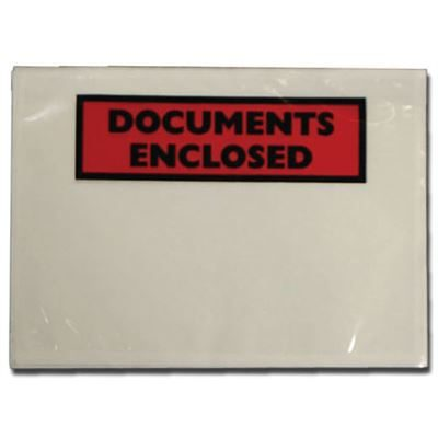 Documents Enclosed Self Adhesive Document Envelopes - A7 - Pack of 1000