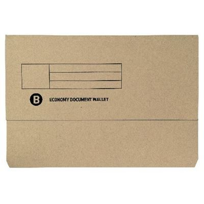 Foolscap Buff Document Wallet - Pack of 50
