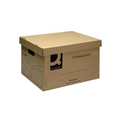 Brown Storage Box - With Removable Lid - Pack of 10