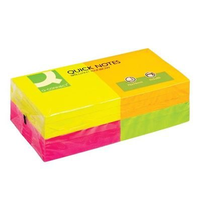 Sticky Notes - Neon - 76x76mm - Pack of 12