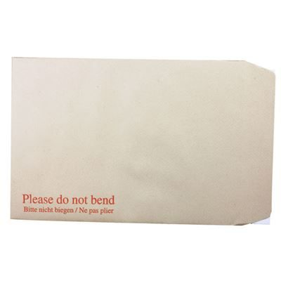 C4 Manila Envelopes - Board Back Peel and Seal - 115gsm - Pack of 125