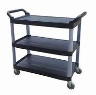Catering Trolley - 3 Tier - Black - Plastic