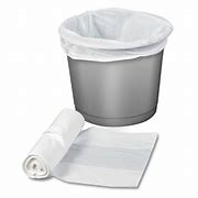 White Pedal Bin Liners on a Roll