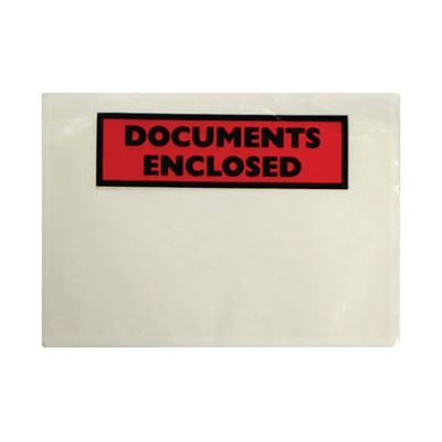 Documents Enclosed Self Adhesive Document Envelopes - A5 - Pack of 1000