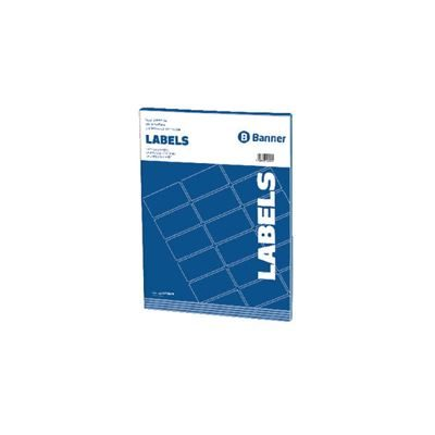 Multipurpose White Labels - 63.5x33.9mm - 24 Per Sheet - Pack of 100 Sheets
